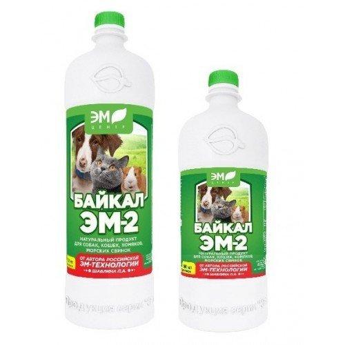 Продукт натуральный для собак, кошек, хомяков, морских свинок Байкал ЭМ-2, 350 мл