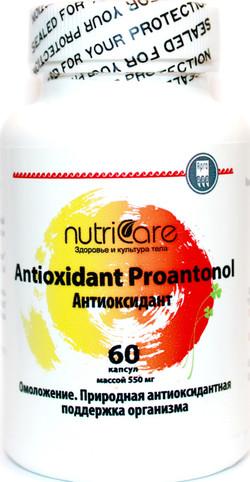 Антиоксидант, капсулы, 60 шт.Укрепляет иммунную, сердечно-сосудистую системы. Проявляет антиоксидантные свойства.  NutriCare Int.