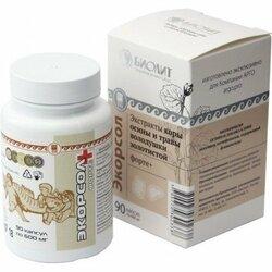 Экорсол форте+, капсулы, 90 шт. (противопаразитарное средство) Улучшает работу печени и желчевыводящих путей при описторхозе.Биолит